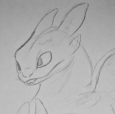 Cartoon Sketches, Animal Sketches, Animal Drawings, Drawing Sketches, Drawing Ideas, Httyd Dragons, Cute Dragons, Amazing Drawings, Easy Drawings