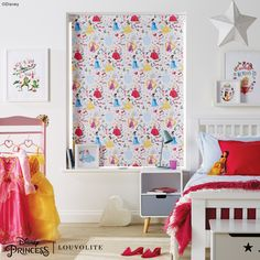 For the Princess in your life. Put a smile on your little ones face with this super pretty window blind. Motorise it for utmost safety. Blinds For Windows, Window Blinds, Young At Heart, Starwars, Nursery, Flame Retardant, Disney Marvel, Disney Princess, Libraries
