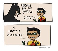 Always look on the bright side of life, Damian's face in the last panel makes my day