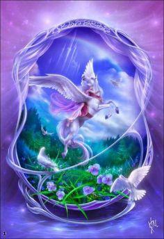 2019 New Bedazzled Fantasy Mystical Diy Diamond Painting Kits UK Fantasy Artwork, Magical Creatures, Fantasy Creatures, Pegasus, Unicorn Fantasy, Beautiful Fantasy Art, Beautiful Nature Wallpaper, Fantasy Illustration, Angel Art