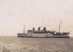 Passenger liner RMS Strathnaver at Cadiz 1930s