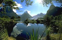New travel goal: to hike Milford Track in NZ. Mitre Peak at the end of the Milford Track Milford Track, Milford Sound, The Places Youll Go, Places To See, Beautiful World, Beautiful Places, Amazing Places, Dame Nature, Rio