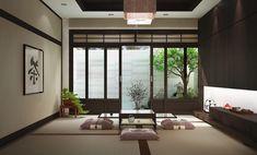 Wohnzimmer im asiatischen Stil einrichten - niedrige Möbel | design ...