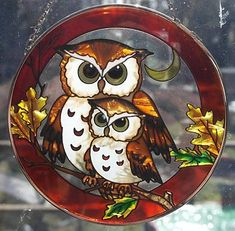 Owl glass sun catcher