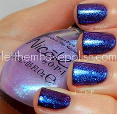 Nicole by O.P.I Count on Me over Milani Hipster Plum