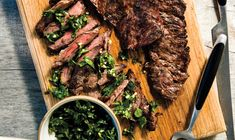 Grilled Skirt Steak with Herb Salsa Verde - Food is medicine, and herbs are especially potent! This recipe uses fistfuls of fresh mint and parsley (they help promote digestion, alkalize the body and stabilize blood sugar).