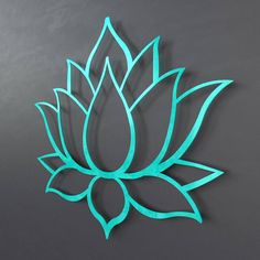 Lotus Flower Metal Wall Art Sculpture, Brushed Metal w/ Serenity Teal - Spiritual Wall Decor for the Modern Home, Yoga Studio or Meditation Large Metal Wall Art, Metal Wall Decor, Metal Art, Wood Art, Metal Sculpture Wall Art, Wall Sculptures, Brushed Metal Texture, Flower Wall, Lotus Flower