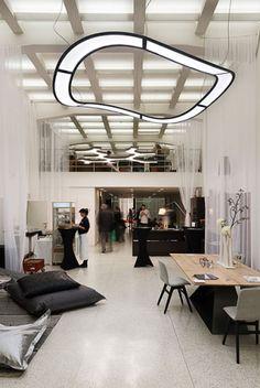 Interior lighting example with luminaires UNDA