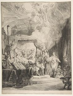The Death of the Virgin Rembrandt (Rembrandt van Rijn)  (Dutch, Leiden 1606–1669 Amsterdam)