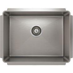 JU IH75 US 23188 Stainless Steel Topmount Single Bowl Kitchen Sink By Julien