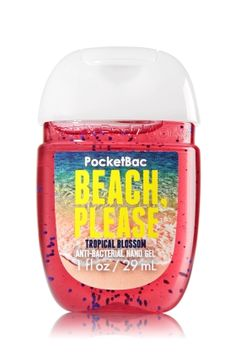 Beach Please - Tropical Blossom - PocketBac Sanitizing Hand Gel - Bath & Body Works - Now with more happy! Our NEW PocketBac is perfectly shaped for pockets & purses, making it easy to kill 99.9% of germs when you're on-the-go! New, skin-softening formula conditions with Aloe & Vitamin E to leave your hands feeling soft and clean.