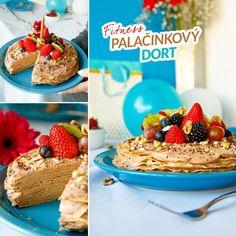 Fitness palačinkový dort - recept Bajola Yum Yum, Breakfast, Health, Fitness, Recipes, Food, Morning Coffee, Health Care, Recipies