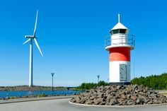 Finland Sets New, Ambitious Goal For Cutting Greenhouse Gas Emissions via Think Progress European Countries, Windmill, Climate Change, Finland, Wind Turbine, Sustainability, Environment, Goals, Lighthouses
