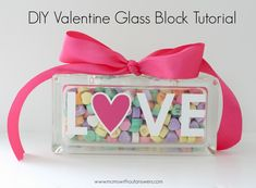 This easy DIY Valentine Glass Block tutorial is fast and affordable. Perfect for even the least crafty of mamas.