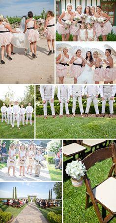Pink and gray wedding theme