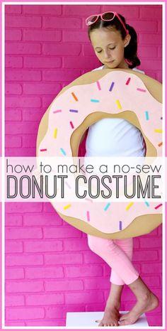 No-Sew DIY Donut Costume (Sugar Bee Crafts)  sc 1 st  Pinterest & sprinkle donut girls costume u2026 | Halloweeu2026