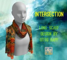 Scarf Design, Long Scarf, Different Fabrics, Artwork Prints, Printing On Fabric, Clothes For Women, Fashion Design, Outerwear Women, Fabric Printing
