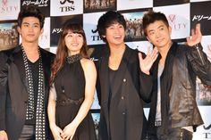 『韓流ドラマ『ドリームハイ』会見で、K-POPの2PMやmiss Aのメンバーが来日!』