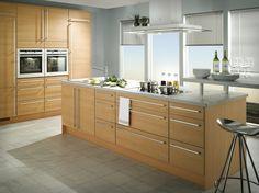 gabinetes cocina madera clara - Buscar con Google