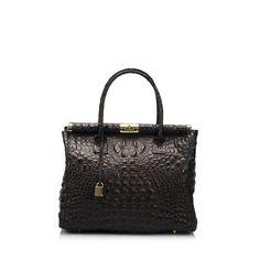 Černá kožená kabelka Lisa Minardi Bletillia