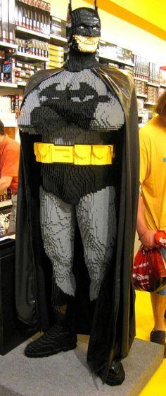 Life-Size LEGO Batman   He's off to fight his arch-nemesis, Duplo Joker.