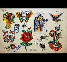 Bert Grimm tattoo flash