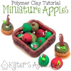 Apples - Polymer Clay Miniature Tutorial by KatersAcres