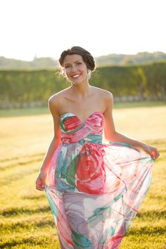 Long, printed, chiffon bridesmaid dresses from Donna Morgan. #wchappyhour http://www.donna-morgan.com/bridal/long-bridesmaid-dresses/icat/long?utm_source=HappyHourPost&utm_medium=WeddingChicks&utm_campaign=022315_WeddingChicks_DM_6