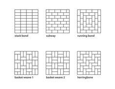 Tile patterns for patio enclosure.