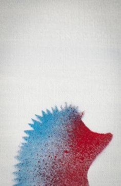 Hedgehog Art Print by Tomoyuki Murakami