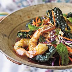 Try this Mint and Ginger Prawns with Coleslaw recipe by Chef Lee Holmes .