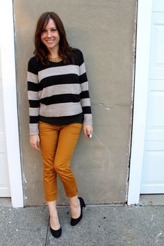 TaimiToGetDressed for EBEW Colored Pants - I love the stripes plus mustard!
