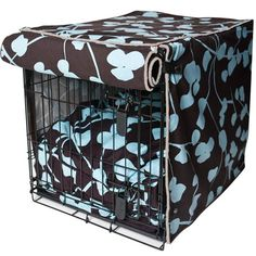 Blue Blossom Dog Crate Cover