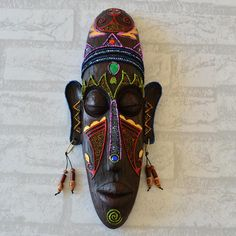 Discover thousands of images about African Mask Wall Hangings Medium Creative Mural - Dukaiko Fashion Art Surf, African Print Shirt, African Sculptures, African Dashiki, Art Africain, Africa Art, African Masks, African Suits, African Style