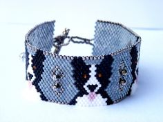 Border Collie Dog Beaded Bracelet