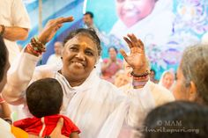 Amma dance along with the Badugas during darshan...