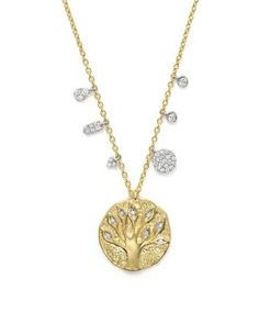 Meira T 14K Yellow Gold Tree of Life Necklace, 16"