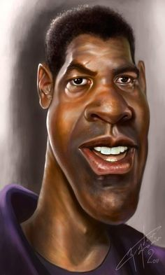Caricatura de Denzel Washington