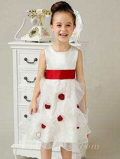 Little Girls Skirt Wedding Flower Girl Organza Sleeveless Dress