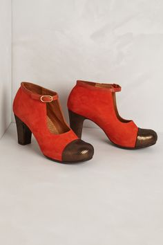 Chie mihara Alta Mary Jane Booties in Red | Lyst