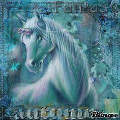 teal unicorn autumn by anzuip