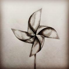 Pinwheel tattoo sketch by - Ranz