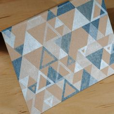 Pattern, simple colours and background, geometric, different sized shapes making different patterns