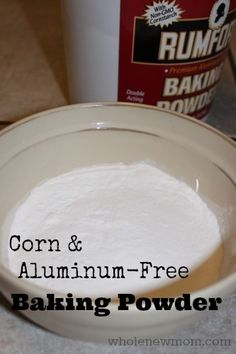 Did you know most baking powder contains aluminum? Here's how to make your own baking powder - corn and aluminum-free!