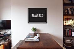 Flawless - Beyonce - Vinyl Wall Decoration - Quote on Etsy, £10.00