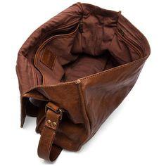 VIPARO Tan 13 Inch Vintage Wash Leather Satchel Messenger Bag - Gustaf ($200) ❤ liked on Polyvore featuring bags, messenger bags, brown leather satchel, leather courier bag, genuine leather satchel handbags, tan leather messenger bag and leather satchel