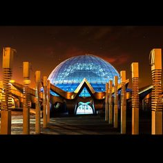 Tehran's 3D Planetarium - Mina Dome (Gonbad-e Mina), Tehran, Iran. Largest Planetarium In the Middle East and one of the best in the world in terms of technology. (in Persian: گنبد مینا - بزرگترین آسمان نمای خاورمیانه و یکی از برترین آسمان نماهای جهان به لحاظ فناوری)
