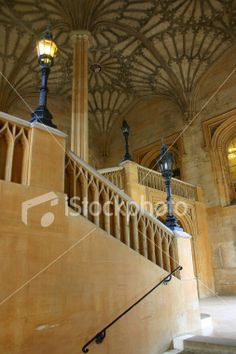 Ornate staircase at Christchurch College, Oxford