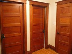 THIS. Painted White. (I Know, I Know.) Craftsman Interior DoorsInterior ...