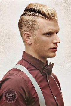 Short Modern Mohawk Hairstyles For Guys feather mohawk, upswept mohawk, undercut mohawk and braided mohawk for the short hairs of the men. Mohawk Hairstyles Men, Haircuts For Men, Braided Hairstyles, Braided Mohawk, Summer Haircuts, Men's Hairstyle, Medium Hairstyles, Hairstyle Ideas, Hair And Beard Styles